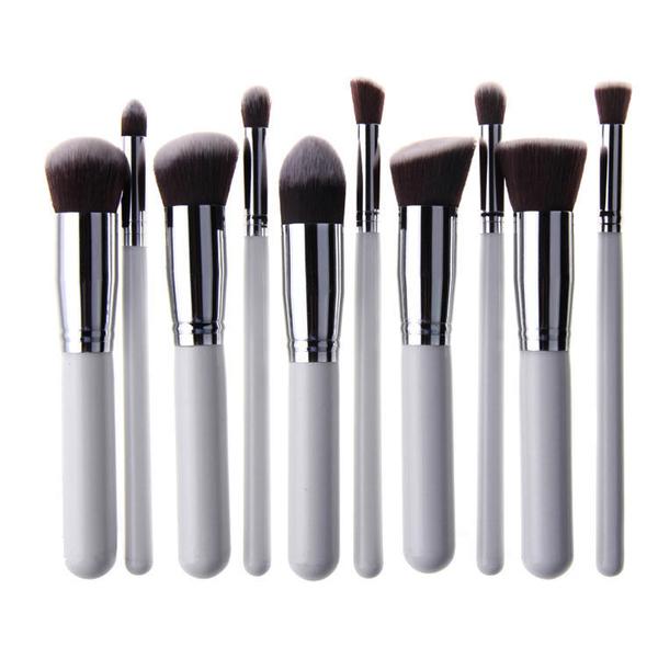 10 st.vita silver make up sminkborstar av bästa kvalité